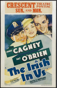 "The Irish in Us (First National, 1935). Window Card (14"" X 22""). Comedy Drama. Starring James Cagney, Pat O'Br..."