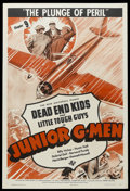 """Movie Posters:Crime, Junior G-Men (Universal, 1940). One Sheet (27"""" X 41"""") Chapter 9 --""""The Plunge of Peril."""" Crime Serial. Starring Billy Halop..."""