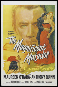"The Magnificent Matador (20th Century Fox, 1955). One Sheet (27"" X 41""). Sports Drama. Starring Maureen O'Hara..."