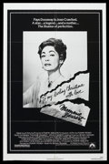 "Movie Posters:Cult Classic, Mommie Dearest (Paramount, 1981). One Sheet (27"" X 41"").Biographical Drama. Starring Faye Dunaway, Diana Scarwid, SteveFor..."