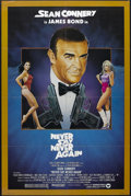 "Movie Posters:James Bond, Never Say Never Again (Warner Brothers, 1983). One Sheet (27"" X41""). James Bond Action. Starring Sean Connery, Klaus Maria ..."