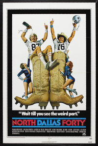 "North Dallas Forty (Paramount, 1979). One Sheet (27"" X 41""). Comedy Drama. Starring Nick Nolte, Mac Davis, Cha..."