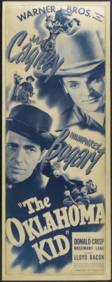 """The Oklahoma Kid (Warner Brothers, R-1940s). Insert (14"""" X 36""""). Western. Starring James Cagney, Humphrey Boga..."""