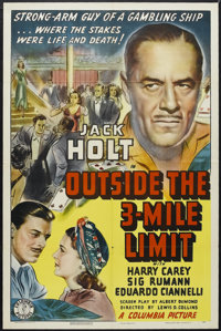 "Outside the 3-Mile Limit (Columbia, 1940). One Sheet (27"" X 41""). Crime. Starring Jack Holt, Harry Carey, Sig..."