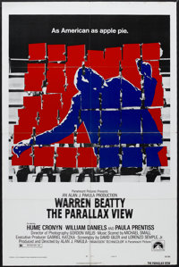 "The Parallax View (Paramount, 1974). One Sheet (27"" X 41"") Style B. Thriller. Starring Warren Beatty, Hume Cro..."