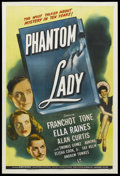 "Movie Posters:Film Noir, Phantom Lady (Universal, 1944). One Sheet (27"" X 41""). Film Noir. Starring Franchot Tone, Ella Raines, Alan Curtis, Thomas G..."