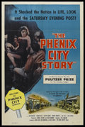"Movie Posters:Drama, The Phenix City Story (Allied Artists, 1955). One Sheet (27"" X 41"") Style A. Drama. Starring John McIntire, Richard Kiley, K..."