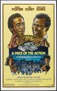 """A Piece of the Action (Warner Brothers, 1977). One Sheet (27"""" X 41""""). Comedy. Starring Sidney Poitier, Bill Co..."""