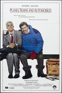 """Planes, Trains and Automobiles (Paramount, 1987). One Sheet (27"""" X 41""""). Comedy. Starring Steve Martin, John C..."""