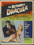 "Movie Posters:Horror, The Return of Dracula (United Artists, 1958). Poster (30"" X 40""). Horror. Starring Francis Lederer, Norma Eberhardt, Ray Str..."