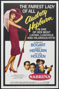 "Movie Posters:Romance, Sabrina (Paramount, R-1965). One Sheet (27"" X 41""). Romantic Comedy. Starring Humphrey Bogart, Audrey Hepburn, William Holde..."