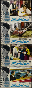 "Movie Posters:Romance, Sabrina (Paramount, R-1962). Italian Photobustas (6) (18.5"" X 26.75""). Romantic Comedy. Starring Humphrey Bogart, Audrey Hep... (Total: 6 Items)"