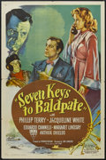 "Movie Posters:Mystery, Seven Keys to Baldpate (RKO, 1947). One Sheet (27"" X 41""). Mystery.Starring Phillip Terry, Jacqueline White, Eduardo Cianne..."