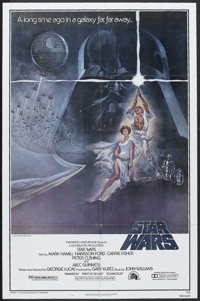"Star Wars (20th Century Fox, 1977). One Sheet (27"" X 41"") Style A. Science Fiction. Starring Harrison Ford, Ma..."