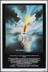 "Superman: the Movie (Warner Brothers, 1978). One Sheet (27"" X 41""). Comic Book Action. Starring Christopher Re..."