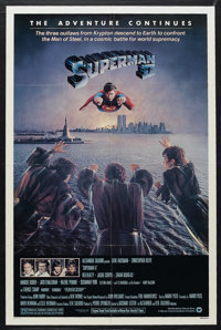 "Superman II (Warner Brothers, 1980). One Sheet (27"" X 41""). Comic Book Action. Starring Gene Hackman, Christop..."