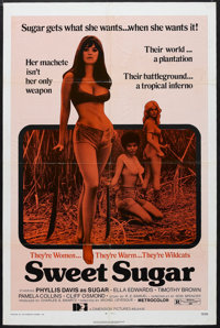 "Sweet Sugar (Dimension Pictures, 1972). One Sheet (27"" X 41""). Action. Starring Phyllis Davis, Ella Edwards, T..."