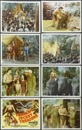 "Movie Posters:Adventure, Tarzan's Secret Treasure (MGM, R-1948). International Lobby CardSet of 8 (11"" X 14""). Adventure. Starring Johnny Weissmulle...(Total: 8 Items)"