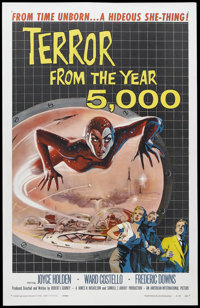 "Terror from the Year 5000 (American International, 1958). One Sheet (27"" X 41""). Science Fiction. Starring Joy..."