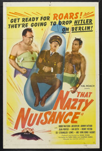 "That Nazty Nuisance (United Artists, 1943). One Sheet (27"" X 41""). Comedy. Starring Bobby Watson, Joe Devlin..."