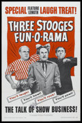 "Movie Posters:Comedy, Three Stooges Fun-O-Rama (Columbia, 1959). One Sheet (27"" X 41""). Comedy. Starring The Three Stooges. Canadian censor stamp ..."