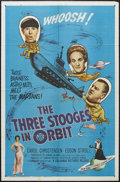 "Movie Posters:Comedy, The Three Stooges in Orbit (Columbia, 1962). One Sheet (27"" X 41""). Comedy. Starring Moe Howard, Larry Fine, Curly Joe DeRit..."