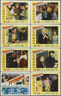 "Titanic (20th Century Fox, 1953). Lobby Card Set of 8 (11"" X 14""). Historical Drama. Starring Clifton Webb, Ba..."