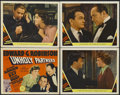"Movie Posters:Crime, Unholy Partners (MGM, 1941). Title Lobby Card (11"" X 14"") and LobbyCards (3) (11"" X 14""). Crime. Starring Edward G. Robinso... (Total:4 Items)"