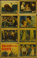 "Movie Posters:Adventure, Valley of the Giants (Warner Brothers, 1938). Lobby Card Set of 8(11"" X 14""). Adventure. Starring Wayne Morris, Claire Trev...(Total: 8 Items)"