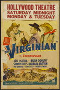 "Movie Posters:Western, The Virginian (Paramount, 1946). Window Card (14"" X 22""). Western. Starring Joel McCrea, Brian Donlevy, Sonny Tufts, Barbara..."