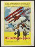 "Movie Posters:War, Von Richthofen and Brown (United Artists, 1971). Poster (30"" X40""). War. Starring John Phillip Law, Don Stroud, Barry Primu..."