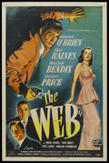 "Movie Posters:Film Noir, The Web (Universal International, 1947). One Sheet (27"" X 41""). Film Noir. Starring Edmond O'Brien, Ella Raines, William Ben..."