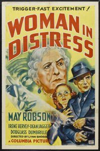 """Woman in Distress (Columbia, 1937). One Sheet (27"""" X 41""""). Crime. Starring May Robson, Irene Hervey, Dean Jagg..."""