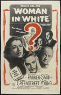 """Movie Posters:Mystery, Woman in White (Warner Brothers, 1948). One Sheet (27"""" X 41""""). Mystery. Starring Eleanor Parker, Alexis Smith, Sydney Greens..."""