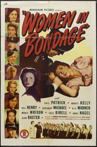 "Women in Bondage (Monogram, 1943). One Sheet (27"" X 41""). War Drama. Starring Gail Patrick, Bill Henry, Nancy..."