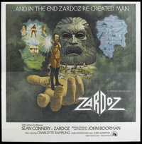 "Zardoz (20th Century Fox, 1974). Six Sheet (77"" X 77""). Science Fiction. Starring Sean Connery, Charlotte Ramp..."