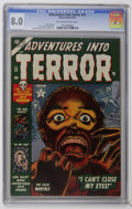 Golden Age (1938-1955):Horror, Adventures Into Terror #22 (Atlas, 1953) CGC VF 8.0 Off-white towhite pages. Russ Heath, Joe Maneely, Paul Reinman, and Chu...