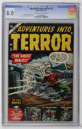 Golden Age (1938-1955):Horror, Adventures Into Terror #23 (Atlas, 1953) CGC VF 8.0 Cream tooff-white pages. George Roussos and Tony DiPreta art. Highest C...