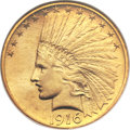 Indian Eagles, 1916-S $10 MS64 NGC....