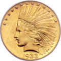 Indian Eagles, 1933 $10 MS64+ PCGS Secure....