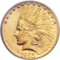 Indian Eagles, 1913-S $10 MS64 PCGS. CAC....