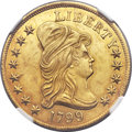 Early Eagles, 1799 $10 Small Stars Obverse MS62 NGC. Breen-6839, Taraszka-15,BD-3, High R.6. ...