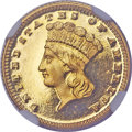 Proof Gold Dollars, 1889 G$1 PR65 Cameo NGC. CAC....