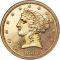 Proof Liberty Half Eagles, 1860 $5 PR66 ★ Cameo NGC....