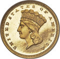 Proof Gold Dollars, 1865 G$1 PR66 Ultra Cameo NGC....