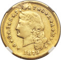Proof Four Dollar Gold Pieces, 1879 $4 Flowing Hair, Judd-1635, Pollock-1833, R.3 -- Plugged,Harshly Cleaned -- NGC Details. XF....