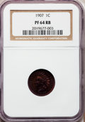Proof Indian Cents: , 1907 1C PR64 Red and Brown NGC. NGC Census: (106/82). PCGS Population (77/53). Mintage: 1,475. Numismedia Wsl. Price for pr...