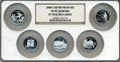 Proof Statehood Quarters, 2008-S 25C Set of Five Statehood Quarter Silver PR70 Ultra Cameo NGC. This set includes: Oklahoma, New Mexico, Arizona, Ala... (Total: 5 coins)