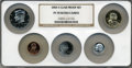 Proof Sets, 2006-S $1 Clad Proof Set PR70 Ultra Cameo NGC. This Set includes: Lincoln Cent, Monticello Nickel, Roosevelt Dime, Kennedy... (Total: 5 coins)