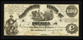 Confederate Notes:1863 Issues, CT13/57A Counterfeit $100 1861.. ...